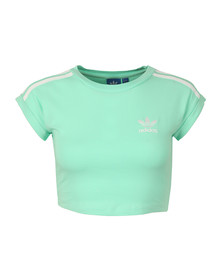 Adidas Originals Womens Green Cropped Top