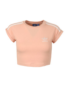 Adidas Originals Womens Pink Cropped Top