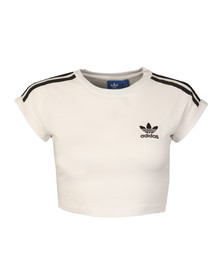 Adidas Originals Womens White Cropped Top