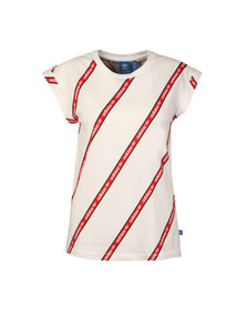Adidas Originals Womens White BF Roll Up Tee