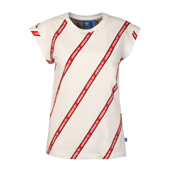 Adidas Originals Womens White BF Roll Up Tee main image