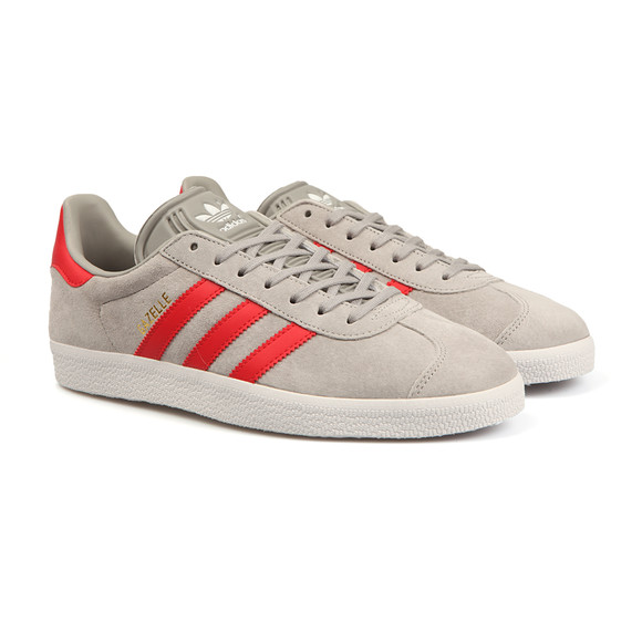 Adidas Originals Boys Grey Gazelle 2 CF Trainer main image