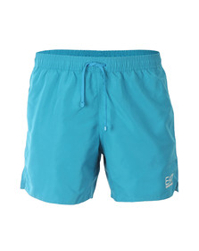 EA7 Emporio Armani Mens Blue Seaworld Core Swim Short