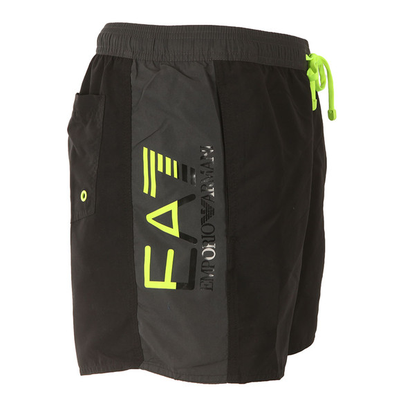 EA7 Emporio Armani Mens Black Sea World Colour Block Swim Short main image