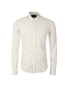 Scotch & Soda Mens White Classic Longsleeve Shirt