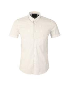Scotch & Soda Mens White Classic Shortsleeve Shirt