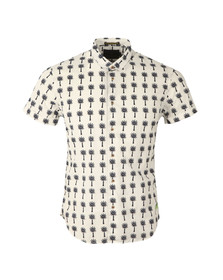 Scotch & Soda Mens Off-white Classic Short Sleeve Shirt