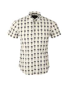Scotch & Soda Mens Off-white Classic Short Sleeve Shirt