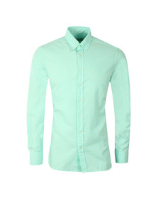 Hackett Mens Green L/S Slim Fit Shirt