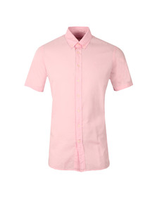 Hackett Mens Pink Dyed Oxford SS Shirt