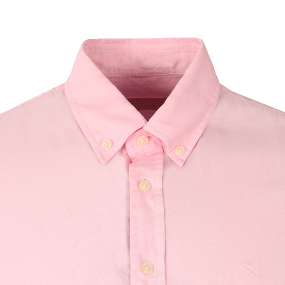 Hackett Mens Pink Dyed Oxford SS Shirt main image