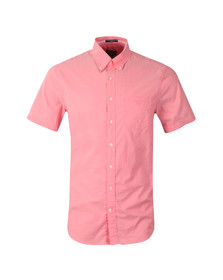Gant Mens Pink S/S Washed Oxford Shirt