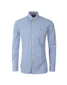 Hackett Mens Blue LS Gingham Tri Logo Shirt
