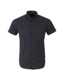 Scotch & Soda Mens Blue Classic Short Sleeve Shirt