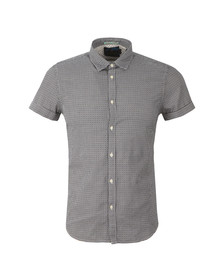 Scotch & Soda Mens Blue Classic Shortsleeve Shirt