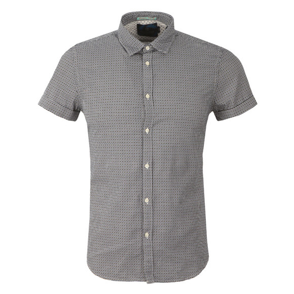 Scotch & Soda Mens Blue Classic Shortsleeve Shirt main image