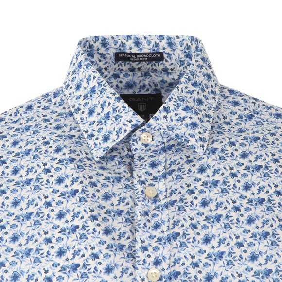 Gant Mens White Printed Flower LS Shirt main image