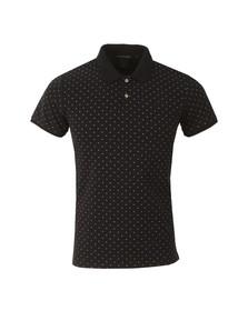 Scotch & Soda Mens Blue All Over Print Polo Shirt