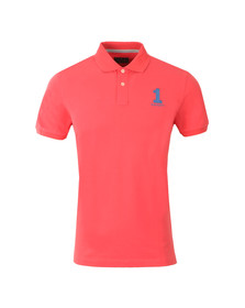 Hackett Mens Pink S/S New Classic Polo Shirt
