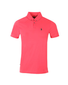 Luke Mens Pink Stan Poole Polo Shirt