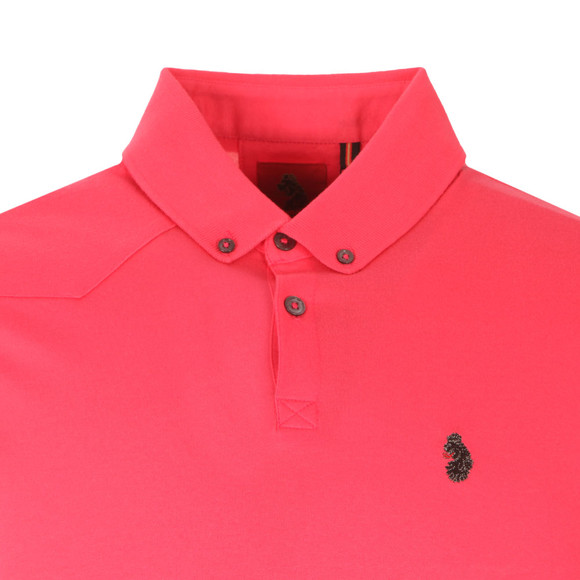 Luke Mens Pink Stan Poole Polo Shirt main image
