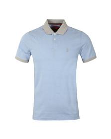 Luke Mens Blue Toms Barnet Contrast Collar Polo