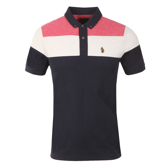 Luke 1977 Mens Blue Mickey Spacers Striped Polo main image