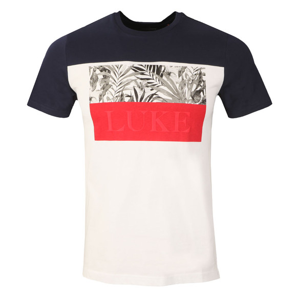 Luke Mens Blue Pop Block T-Shirt main image