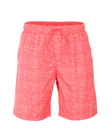 Luke Mens Red Cagy Knee Length Swim Short