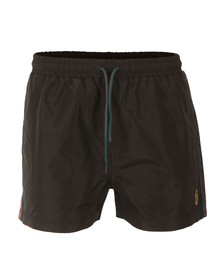 Luke Mens Black Barnsey Short Length Swimshorts
