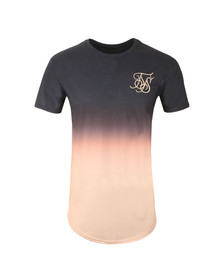 Sik Silk Mens Blue Peach Horizon Curved Hem Tee