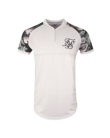 Sik Silk Mens White Dark Gardens Baseball Jersey