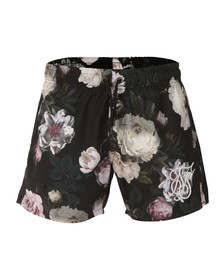 Sik Silk Mens Black Dark Garden Standard Shorts