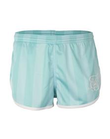 Sik Silk Mens Green Retro Stripe Shorts