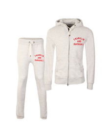 Franklin & Marshall Mens Grey Embroidered Logo Tracksuit