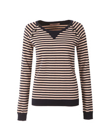 Maison Scotch Womens Blue Jumper With Button Closure