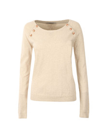 Maison Scotch Womens Off-white Jumper With Button Closure