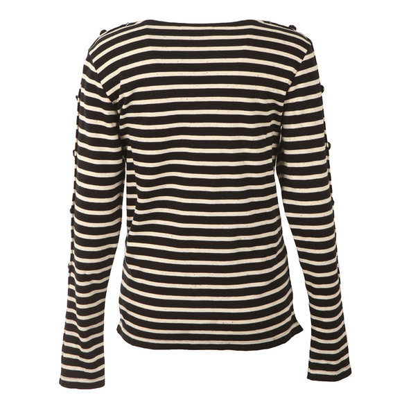 Maison Scotch Womens Blue Long Sleeve Breton T Shirt main image