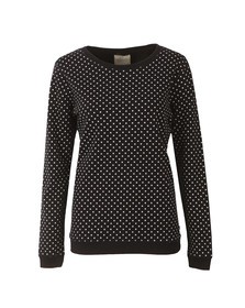 Maison Scotch Womens Black Crew Neck Sweat