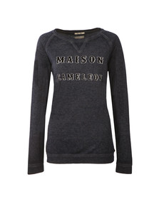 Maison Scotch Womens Blue Burnout Sweatshirt