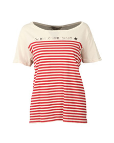 Maison Scotch Womens Red French Short Sleeve T Shirt