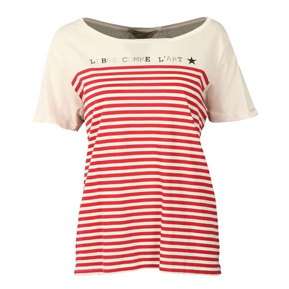 Maison Scotch Womens Red French Short Sleeve T Shirt main image