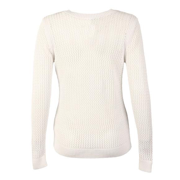 Michael Kors Womens White V Neck Mesh Sweater main image