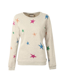 Maison Scotch Womens Grey Crew Neck Sweat