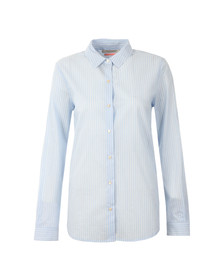 Maison Scotch Womens Blue Preppy Cotton Shirt
