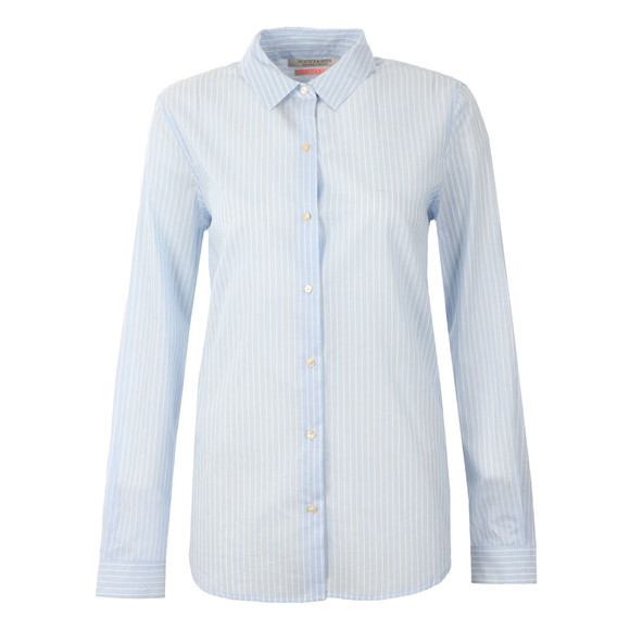 Maison Scotch Womens Blue Preppy Cotton Shirt main image