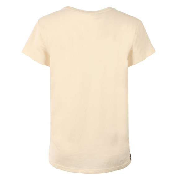 Maison Scotch Womens Off-white Woven & Jersey Mixed Tee main image