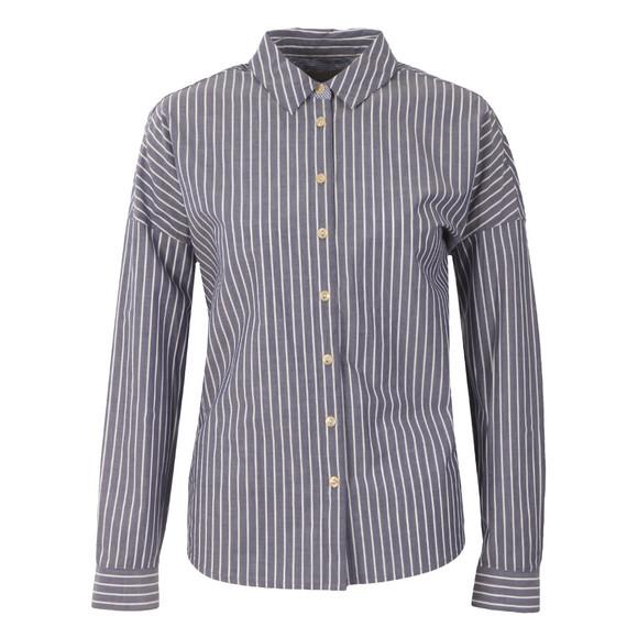 Maison Scotch Womens Blue Relax Fit Button Up Shirt main image