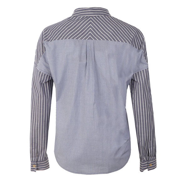 Maison Scotch Womens Blue Relax Fit Button Up Shirt main image