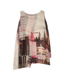 French Connection Womens Pink Cornell Sheer Sleeveless Top